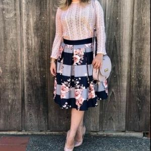MADELINE Floral Midi Skirt